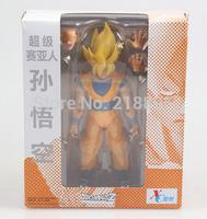 New Arrival XC Super Saiyan Son Goku Dragonball  S.H. Figuarts Action Figure PVC model