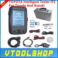 Top 2014 Super Performance  Toyota Denso Intelligent Tester IT2 V2014.10 for Toyota and Suzuki With Oscilloscop + Aluminium Case