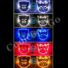 LED Transform   3D Logo Emblem Badge Decal Car Sticker New(China (Mainland))