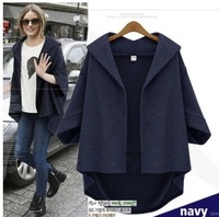 free shipping 2014 early Autumn new style women fashion coat &outerwear long sleeve super quality big size upper garments