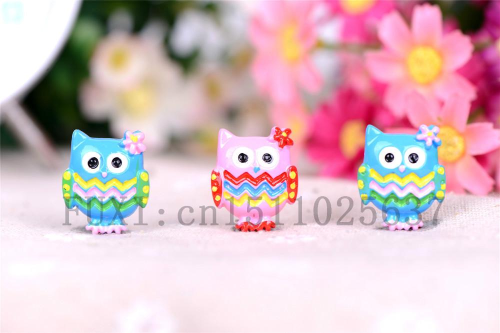 Free shipping, flat back resin owl, convex circular mobile phone DIY, children's necklace pendant, 20 PCS(China (Mainland))