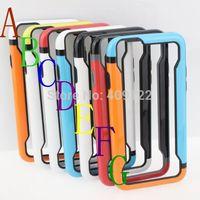 5pcs multi-color PC TPU Border Bumper frame Case For Apple iPhone 6 4.7'' Rubber Phone Case Skin Fashion Cool Color pt03i612