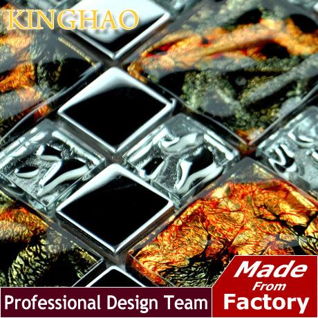 [KINGHAO] Supply Mosaic Wholesale glaze Glass Mosaic Tile Factory Price KF4833(China (Mainland))