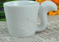 Free Shipping Kinto relief bone china ceramic animal mug water cup creative cup