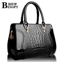 Fashionable handbags 2014 new female bag crocodile pattern handbag shoulder bag Messenger Bag