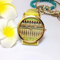 5 Models Classic leather Watch Women Dress Watch Fashion Watch Golden Quartz Watch D0212