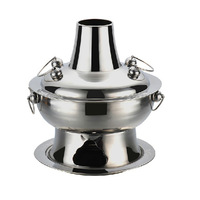 Fire pot old Beijing household Hot Pot Thicken Traditional Charcoal Fire Boiled Pot Stainless Steel
