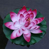 Korean Garden Large Water Lily Artificial Flowers Floor Decorative Flower Crafts