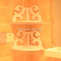 Modern creative factory direct wholesale hollow carved white bathroom corner racks