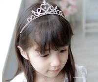 Children's hair accessories rhinestone crown the little princess flower girls crystal shining headbands hairbands