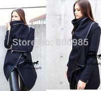 2014 Autumn Winter Woolen Coat Womens Overcoat Temperament Slim Trench Desigual femininos Wool & Blends