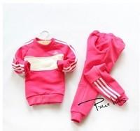 2014 winter& autumn fashion children clothing sets boys&girls Casual set  ( pants+shirt ) 2pcs set for 2-7y free shipping