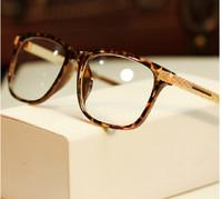 2014 Fashion vintage eyeglasses women optical eyewear plain mirror frame eye glasses men Metal Gold Leg Gafas Oculos de sol G297