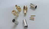 200 pcs gold-plated SMA male crimp connector to RG58 LMR195