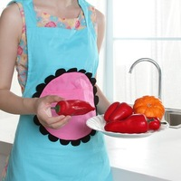 New Arrival Lady Lovely Cute Elephant Cotton Apron With Pocket For Cooking Kitchen Hot Sale BFCF-175