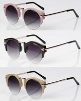 Round shape metal arrow vintage sunglass 2014 new men fashion sunglasses women brand designer sun glasses oculos de sol G329