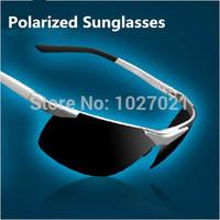 2014 Male brand Polarized Night Vision sunglass mens driving sunglasses Alloy men polaroid sports sun glasses oculos de sol G272