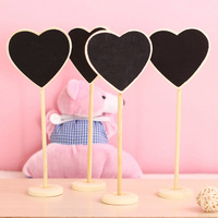 Heart-shaped Mini Board 10 x boards on a stick stand holder-brand new site  wedding decoration free shipping