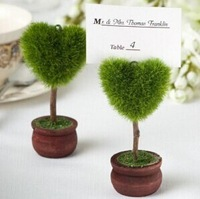 2014 best wedding favor heart topiary photo holder place card holder wedding party supplies and decorations 100pc