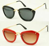 New 2014 fashion vintage brand cat eye sunglasses Evidence Metal Legs designer women's retro cateye sun glasses oculos de sol