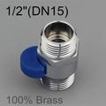 Brass Bathroom Accessories Pass Valve for Shower Head Hose Water Heater 1 2 Pass Valves