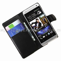 1pcs luxury Wallet Case For HTC One Mini M4 Leather Case Cover With Card Holder Stand