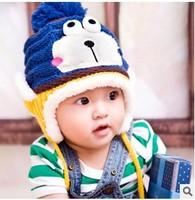 New Cute Fashion Warm Cap Winter Hats For Baby Earflaps Velvet Crochet Knitted Boy Girl Beanie Children Hat  #0963