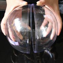 2014 Enfeites де натальной дед мороз оптовая продажа 13.5 см прозрачные висит рождественский бал, Прозрачная пластиковая украшения, 90 шт./лот