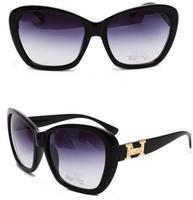 2014 New Fashion women Elegant Retro Glasses cat eye style sunglasses H Brand Designer women vintage sun glasses oculos de sol
