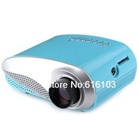 H60 60 Lumens Home Mini LCD Projector Max 1920 x 1080 Resolution 16 9 with 4 3 Aspect Ratio Support HDMI USB VGA IR SD Card US P