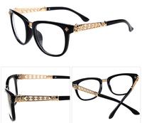 New 2014 Brand Designer plain eyeglasses Hearts fashion vintage optical glasses Metal men women glasses gafas oculos de sol