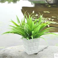 38cm Bracketplant  plastic green grass silk artificial flowers wedding aisle decorations wholesale