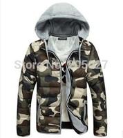 2014 New  men winter coat women fashion camouflage jacket couple's winter jacket plus size XXXL