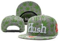Free shipping! Wolesale 2014 cheap Marijuana Hush Snapback New Arrival Adjustable Cap  (7 colors)