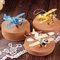 zakka grocery mini metal biplane airplane glider metal pendant selling 6pcs/lot A41-1736