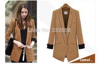 High Quality Blazer Womens Feminino New 2014 Vintage Jackets Suit  Slim  Ladies Blazers Work Wear Blaser