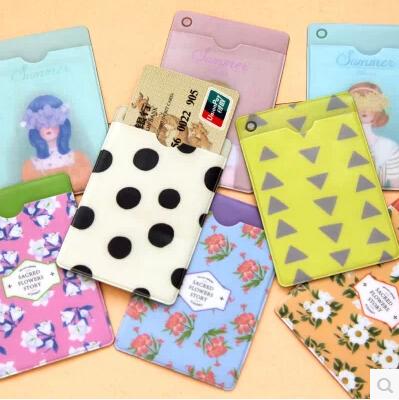 free shipping South Korea creative cute animal flowers double bus card sets Fanka bank card sets(China (Mainland))
