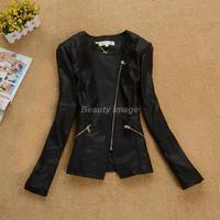 XXXXL 5XL 6XL 2014 Fall Fashion Coat Plus Size Women Clothing PU Leather Jacket Jaqueta de Couro Feminina