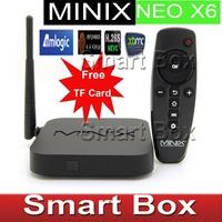 Presale MINIX NEO X6 Android TV Box [ Free TF Card limited offer ] Quad Core Amlogic S805 XBMC1080p H.265/HEVC Hardware Decoding