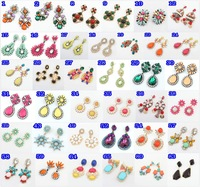 mix lots stud earrings Trend fashion korean shourouk earring acrylic statement Earrings for women jewelry wholesale
