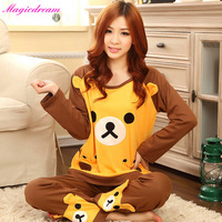 New Panda Pajama Sets O-Neck Full Sleeve Feminino Inverno Sleepwear Autumn Winter 100% Cotton Pajamas Pijama Nightwear For Women