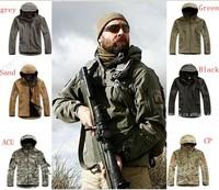 Brand Waterproof Hiking Jacket Men Soft shell Fleece winter Sportswear outdoor windbreaker outerwear Men Military Tactical coats