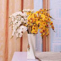 Small Phalaenopsis Single Silk Flower Fake Flower Arrangement Artificial Flowers