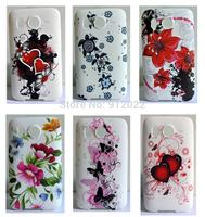 6 X Butterfly Flower Rubber Gel Cover Case For HTC Desire HD G10 A9191