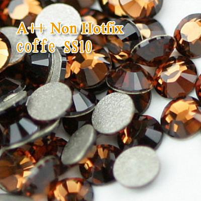 Aomei A++ SS10 1440pcs/lot Coffe Nail Art ideas,Non hot fix rhinestones Flat Back No Hotfix Nail starss naill rhinestone(China (Mainland))
