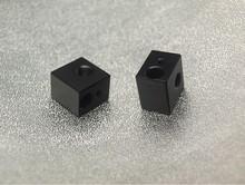 3D printer accessory DIY Aluminium heater block for E3D HotEnd black oxide finish top quality free shipping