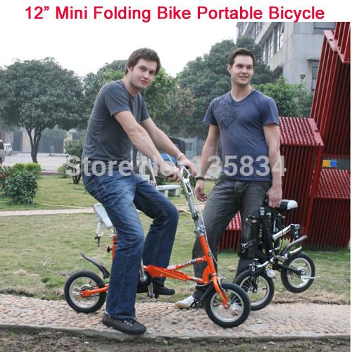 "12"" Mini Folding Bike Brand Travel bike Mini Bicycle Bicicleta 5 Spokes Including Free Gift Bag 3in1 City Bike BMX Portable Bike(China (Mainland))"