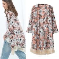 2014 Hot new fashion Women clothes denim windbreaker casual down jacket autumn dress down jacket