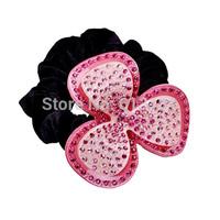 High Quality Fashion Brand Hair Jewelry Luxury Rhinestone Clover Headbands Acrylic Sheets Headwear Stretch Bands