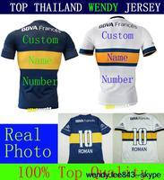 Wendy Jersey Thai Quality Blue White Player Version 14 15 Roman Riquelme Soccer 2015 Futbol Kit GAGO Gigliotti Juniors Shirt